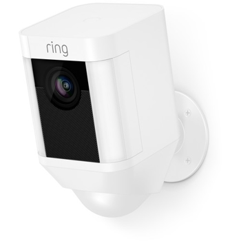 RING SECURITY SPOTLIGHT OUTDOOR BATTERY-POWERED in WHITE