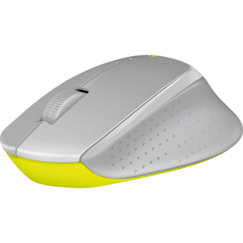 Logitech  Silent Plus Mouse  in  Gray / Yellow
