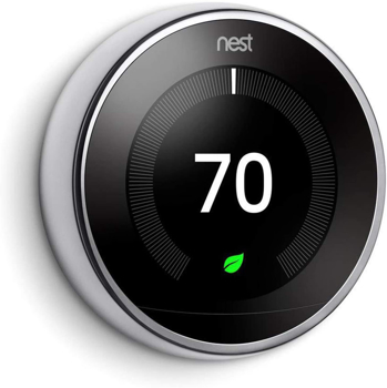 Nest Learning Thermostat 3rd  in  Polished Steel