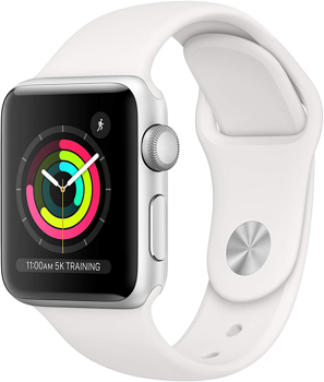 APPLE SERIES 3  SMART WATCH  in  SILVER ALUMINUM / WHITE