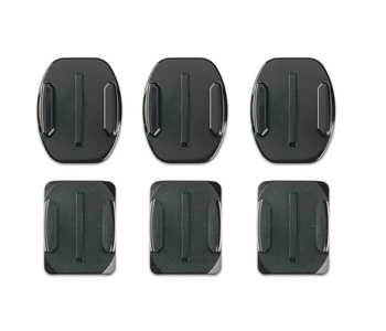 Gopro Curved + Flat  Adhesive  Mounts  in   Black