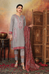 Picture of Nishat 42101103-Embroidered Printed Super Fine Lawn, Voil & Cambric-3pc