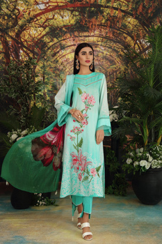 Picture of NISHAT 42101129-Digital Embroidered Printed Super Fine Lawn, Crinkle Chiffon & Cambric-3pc