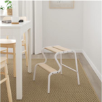Picture of IKEA GRUBBAN Step Stool, White/Birch