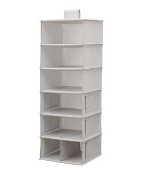 Picture of IKEA BLÄDDRARE Hanging Storage with 7 Compartments, Grey/Patterned 30x30x90 cm