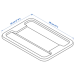 Picture of IKEA SAMLA Lid for Box 5 l, Transparent