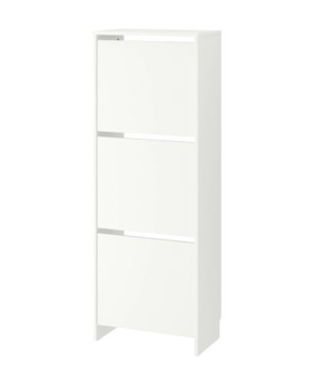 Picture of IKEA BISSA Shoe Cabinet With 3 Compartments, 49×135 cm- White