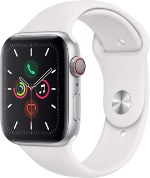APPLESERIES5 CELLULAR SMART WATCH   in  SILVER ALUMINUM / WHITE