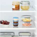 Picture of IKEA PRUTA Food container, Transparent / Blue 70ml