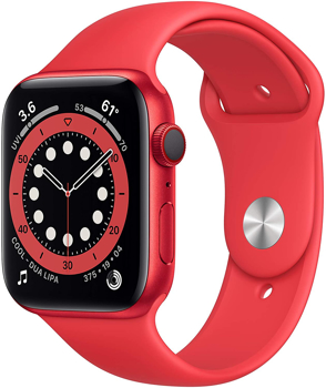 APPLESERIES644MM CELLULAR)SMART WATCH   in  RED ALUMINUM / RED