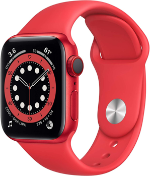 APPLESERIES 6 CELLULAR SMART WATCH   in   RED ALUMINUM / RED