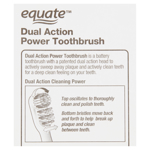 Picture of Equate Soft Dual Action Power Toothbrush for Deep Cleaning, 1 count