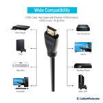 4K UHD HDMI High Speed with Ethernet Cable, 1.5ft