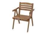 IKEA FALHOLMEN Chair with Armrests, outdoor, Light Brown Stained