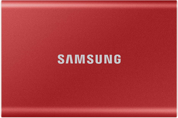 SAMSUNG SSD  T7PORTABLE   in   METALLIC RED
