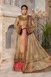 Maria B Unstitched MBROIDERED - Bronze, Maroon and Carrot pink (BD-2207)