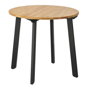 GAMLARED Table, Light Antique Stain/Black Stained
