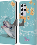 Head Case Designs Dolphin Royal Faces Leather Book Wallet Case Cover For Samsung Galaxy S21