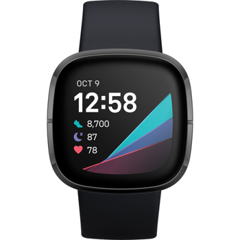 FITBIT  ACTIVITY  TRACKER SENSE  FITNESS WATCH   in   CARBON / GRAPHITE STAINLESS