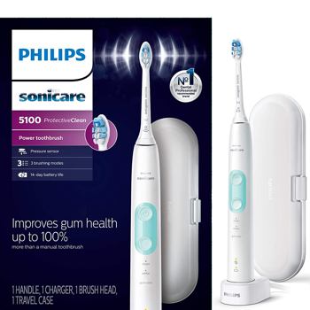 PHILIPS  TOOTHBRUSH  SONICARE PROTECTIVE CLEAN     in    WHITE / BLUE