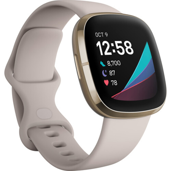 FITBITV ACTIVITY  TRACKER  SENSE  GPS  FITNESS  WATCH     IN    LUNAR WHITE