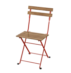 Picture of IKEA TÄRNÖ Chair, Outdoor, Foldable Red / Light Brown Stained