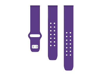 AFFINITY  BANDS SILICONE   WATCH BAND      in      PURPLE