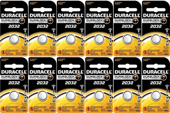 Duracell Battery  2032 CoinLithium  Cell 12 Pack