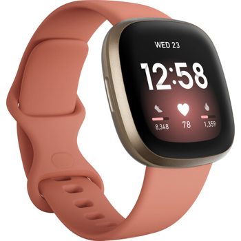 FITBIT  ACTIVITY TRACKER VERSA 3 GPS  WATCH     in    PINK CLAY / SOFT GOLD ALUMINUM