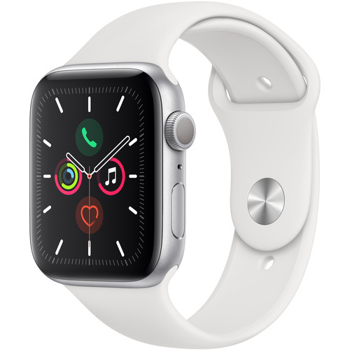 APPLE SERIES 5  44MM SMART WATCH      in     SILVER ALUMINUM / WHITE