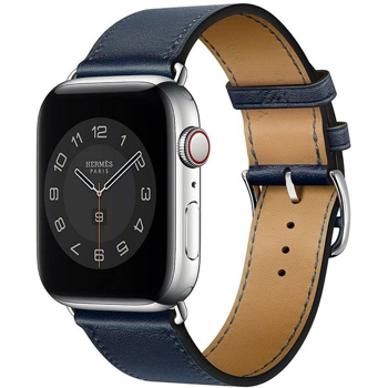 APPLE  HERMES WATCH  BAND      in      NAVY