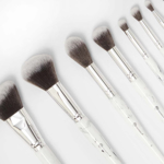 BH COSMETICS White Marble 9 Piece Brush Set With Angled Brush Holder in pakistan
