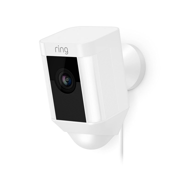 RING SECURITY SPOTLIGHT OUTDOOR WIRED   IN   WHITE