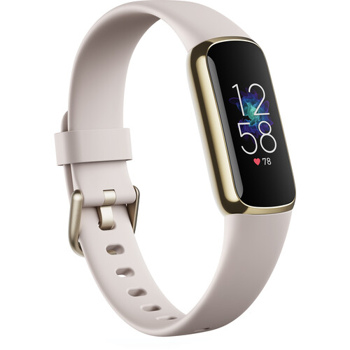 FITBIT ACTIVITY TRACKER LUXE FITNESS   IN LUNAR WHITE / SOFT GOLD STAINLESS STEEL