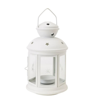 IKEA ROTERA Lantern for Tealight, in/outdoor 21 cm white