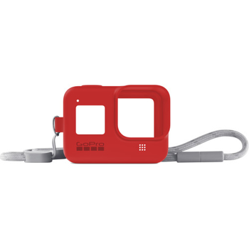 GOPRO SILICONE SLEEVE   ADJUSTABLE LANYARD     in    FIRECRACKER RED