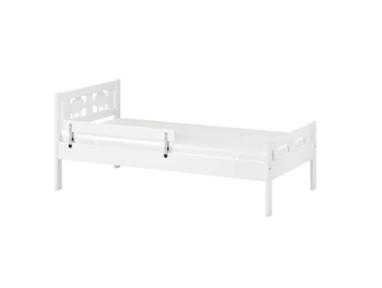 IKEA KRITTER Bed Frame and Guard Rail- 70x160 cm White
